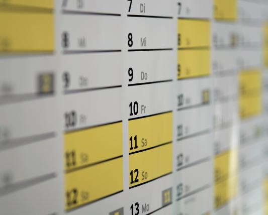 壁掛けカレンダーの画像