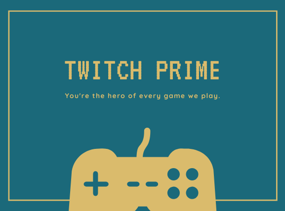 twitch prime 青緑地下部にコントローラー