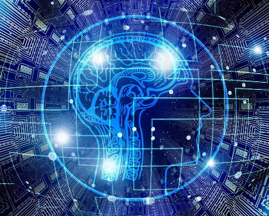 人の横顔と様々な神経回路が活動しているようなイラスト