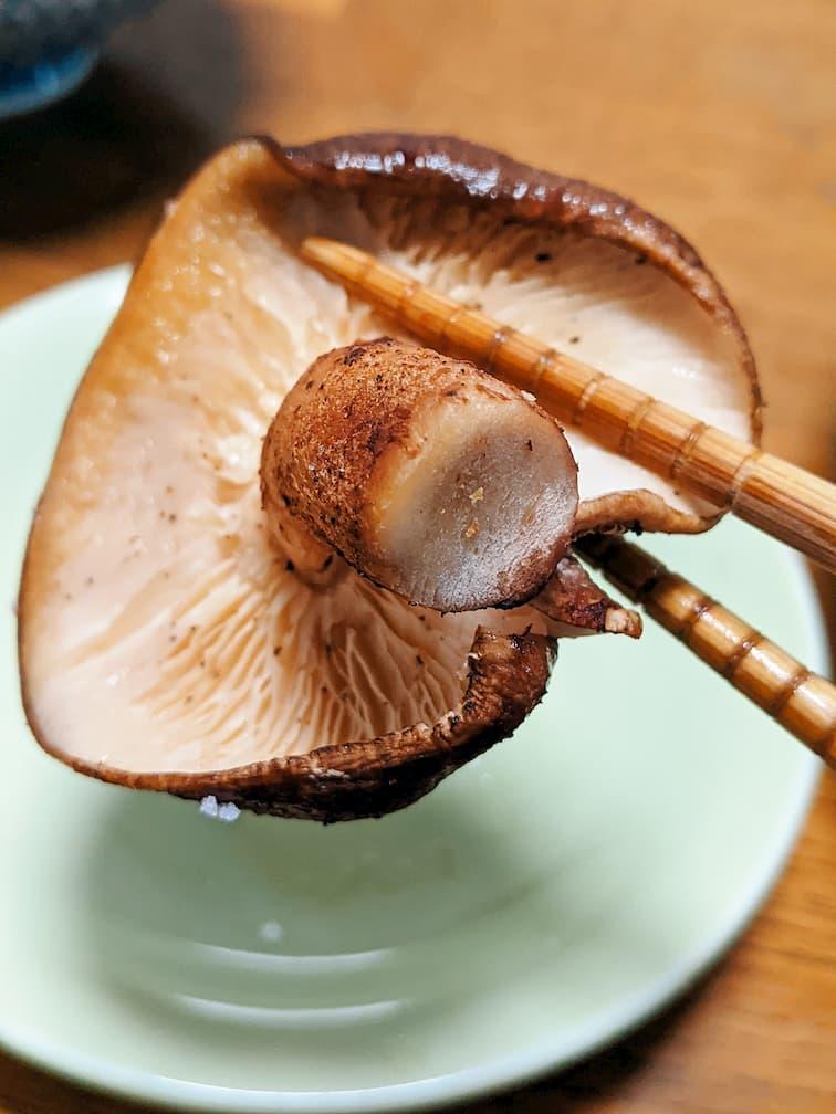 焼きシイタケ箸上げ画像 中面