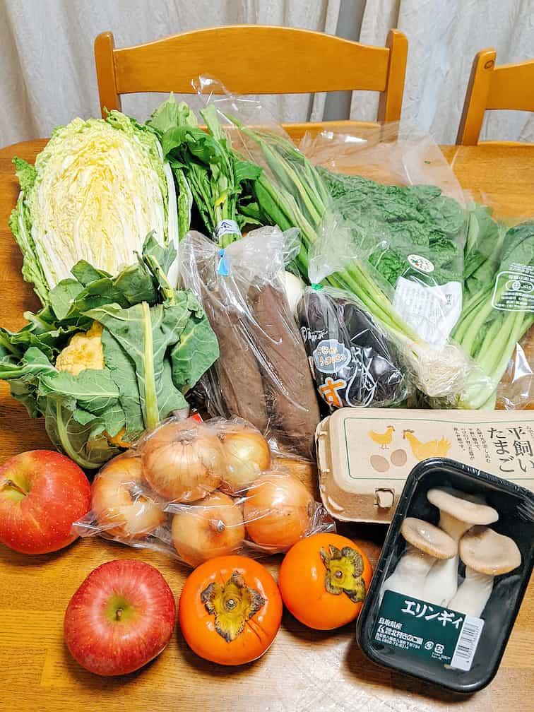 らでぃっしゅぼーやぱれっとの野菜の画像